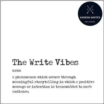 The Write Vibes with border